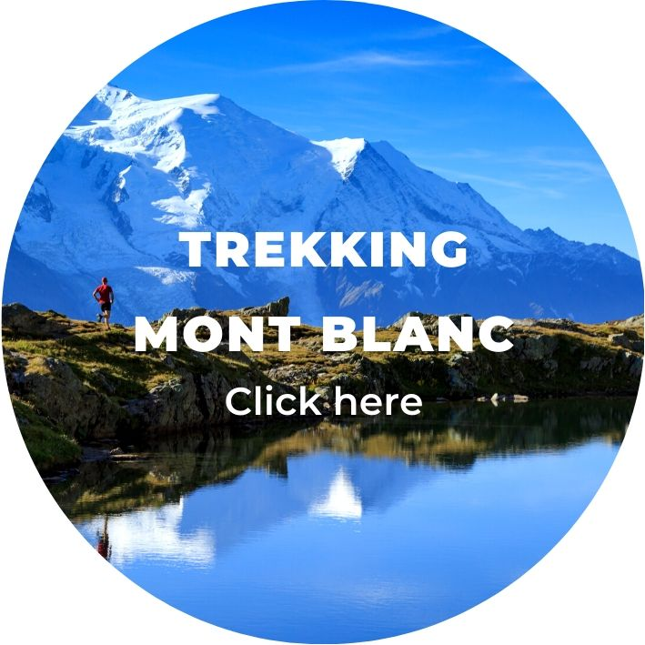trekking in mont blanc, france